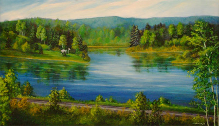painting two rivers